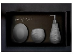 - Countertop Vetro Freddo® soap dish GOLF SET FUMÈ - Glass Design