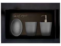 - Countertop Vetro Freddo® soap dish FROZEN SET FUMÈ - Glass Design