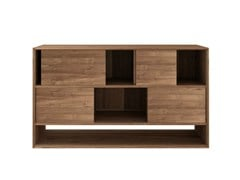 - Teak rack with sliding doors TEAK NORDIC | Sideboard - Ethnicraft