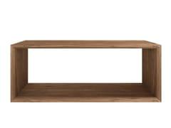 - Rectangular teak coffee table TEAK CUBE | Rectangular coffee table - Ethnicraft
