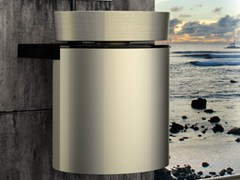 - Lacquered wall-mounted wooden vanity unit LEONARDO KOIN MEDIO RHO PLATINUM - Glass Design