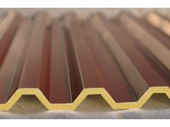 Pannello metallico coibentato per coperturaISOGREK H28 - ISOTECNICA