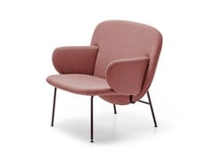 - Upholstered fabric easy chair with armrests ALA | Easy chair with armrests - La Cividina