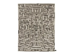 - Rectangular rug with geometric shapes LOST IN THE FIFTIES SOIE - cc-tapis ®