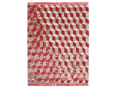 - Rectangular rug with geometric shapes INFINI STUCCO SOIE - cc-tapis ®