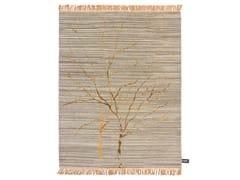 - Patterned rectangular rug TRACES DE DOUBLE ARBRE DE VIE - cc-tapis ®