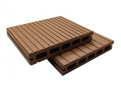 - Engineered wood outdoor floor tiles / decking Holow Profile Stave 4000 Wood - NOVOWOOD