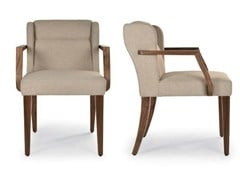 - Upholstered fabric easy chair with armrests NEOCLASSIC | Easy chair with armrests - Riccardo Rivoli Design