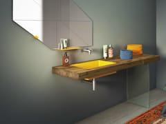 - Undermount rectangular washbasin STEEL | Undermount washbasin - Lago