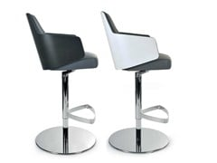 - Swivel counter stool with armrests MIA STOOL | Swivel chair - Riccardo Rivoli Design