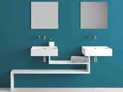 - Wall-mounted ceramic washbasin with overflow BASICA | Wall-mounted washbasin - Lago