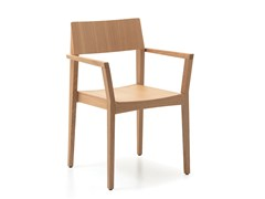 - Wooden chair with armrests ELSA Q - PIAVAL