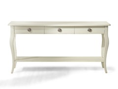 - Rectangular wooden console table with drawers EYE | Wooden console table - MARIONI
