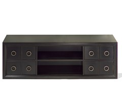 - Low wooden TV cabinet KIEL   Wooden TV cabinet - MARIONI