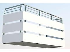 Parapetto in alluminioParapetto a pannelli - ALUSCALAE