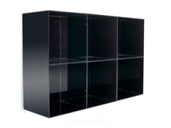 - Wall-mounted one-sided salon display unit OPALE WALL 90 - Gamma & Bross