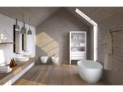 Vasca da bagno centro stanza in Livingtec®SHUI COMFORT | Vasca da bagno - CERAMICA CIELO