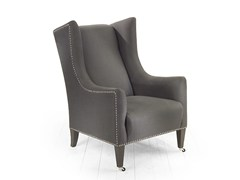 - Upholstered fabric armchair with armrests AMARILLIS | Armchair - MARIONI