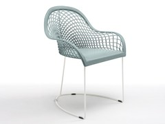 - Sled base chair with armrests GUAPA P | Restaurant chair - Midj