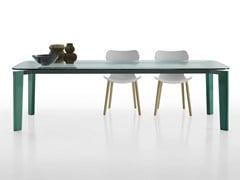 - Rectangular glass table OSKAR | Glass table - B&B Italia