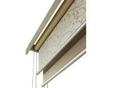 - Fabric roller blind LAYLIGHT® LINEO DOUBLE TUBE - RESSTENDE