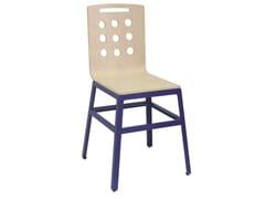 - Wooden restaurant chair SD-MARTINO-G-RAL-W - Vela Arredamenti