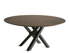 - Round oak dining table SHANGAI | Oak table - RIFLESSI