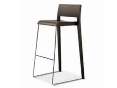 - Sled base wooden counter stool SG-TWIN - Vela Arredamenti