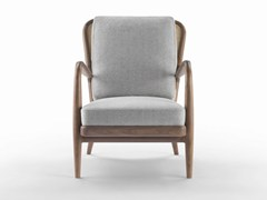 - Upholstered fabric armchair with armrests AGAVE | Armchair - FLEXFORM
