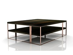 - Square wooden coffee table FLOW | Square coffee table - Nube Italia
