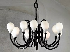 - Halogen blown glass chandelier DAS POP | Blown glass chandelier - Lasvit