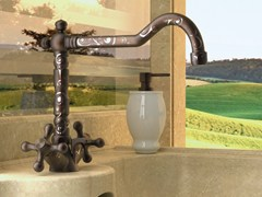 - Countertop 1 hole brass washbasin tap REVIVAL DEKORA | Washbasin tap - Daniel Rubinetterie