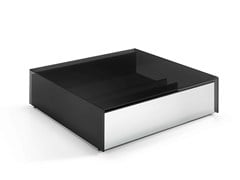 - Low square glass coffee table GOTHAM | Square coffee table - T.D. Tonelli Design