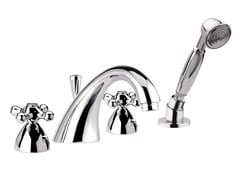 - 4 hole bathtub set with hand shower REVIVAL | Bathtub set - Daniel Rubinetterie