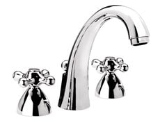 - 3 hole chrome-plated countertop washbasin tap REVIVAL | Chrome-plated washbasin tap - Daniel Rubinetterie