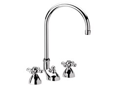 - 3 hole countertop chromed brass washbasin tap REVIVAL | Countertop washbasin tap - Daniel Rubinetterie
