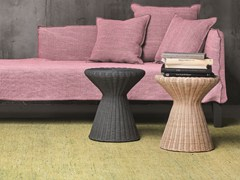 - Woven wicker stool / coffee table BOLLA 12 - Gervasoni
