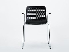 - Sled base chair with armrests DASH | Chair with armrests - Grado Design Furnitures