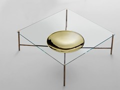 - Low square coffee table for living room GOLDEN MOON | Square coffee table - Gallotti&Radice