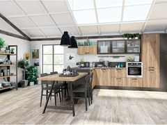 - Fitted kitchen with peninsula KYRA VINTAGE 01 - CREO Kitchens by Lube
