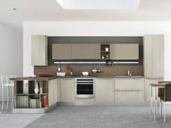 - Fitted kitchen with peninsula GAYLA | Kitchen with peninsula - CREO Kitchens by Lube