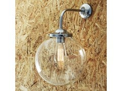 - Wall lamp BAMAKO 250MM CLEAR GLOBE WALL LIGHT - Mullan Lighting