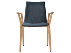 - Upholstered stackable fabric chair with armrests ALEC | Chair with armrests - KFF