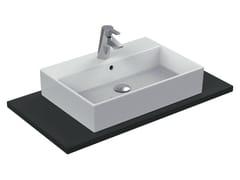 - Countertop rectangular single ceramic washbasin STRADA - K0781 - Ideal Standard Italia