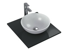 - Countertop round single ceramic washbasin STRADA - K0795 - Ideal Standard Italia