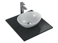 - Countertop oval single ceramic washbasin STRADA - K0792 - Ideal Standard Italia