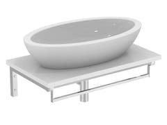 - Countertop oval single ceramic washbasin STRADA - K0785 - Ideal Standard Italia