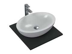- Countertop oval single ceramic washbasin STRADA - K0784 - Ideal Standard Italia
