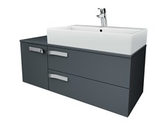 - Single wall-mounted vanity unit with drawers STRADA - K2459 - Ideal Standard Italia