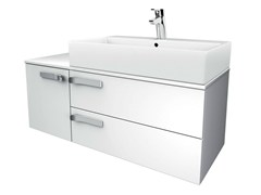 - Single wall-mounted vanity unit with drawers STRADA - K2728 - Ideal Standard Italia